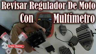 como revisar regulador rectificador de moto con multímetro | ToroMotos