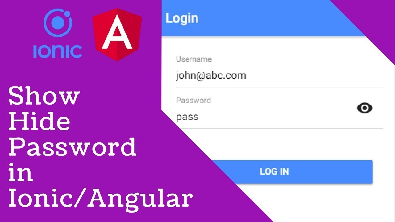 Show Hide Password in Ionic/Angular