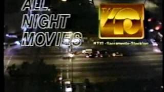 KTXL 40 All Night Movie ad break 1987