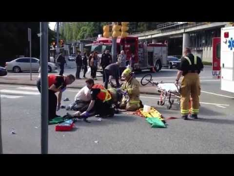 Pedestrian hit by Fast and Furious inspired speeder  - Vancouver Canada