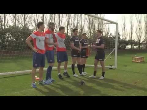Football Rugby Challenge | Arsenal | Saracens | World Rugby | Emirates Airline