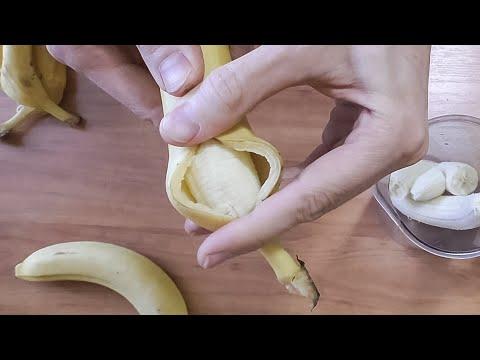 Вопрос: Как почистить банан?