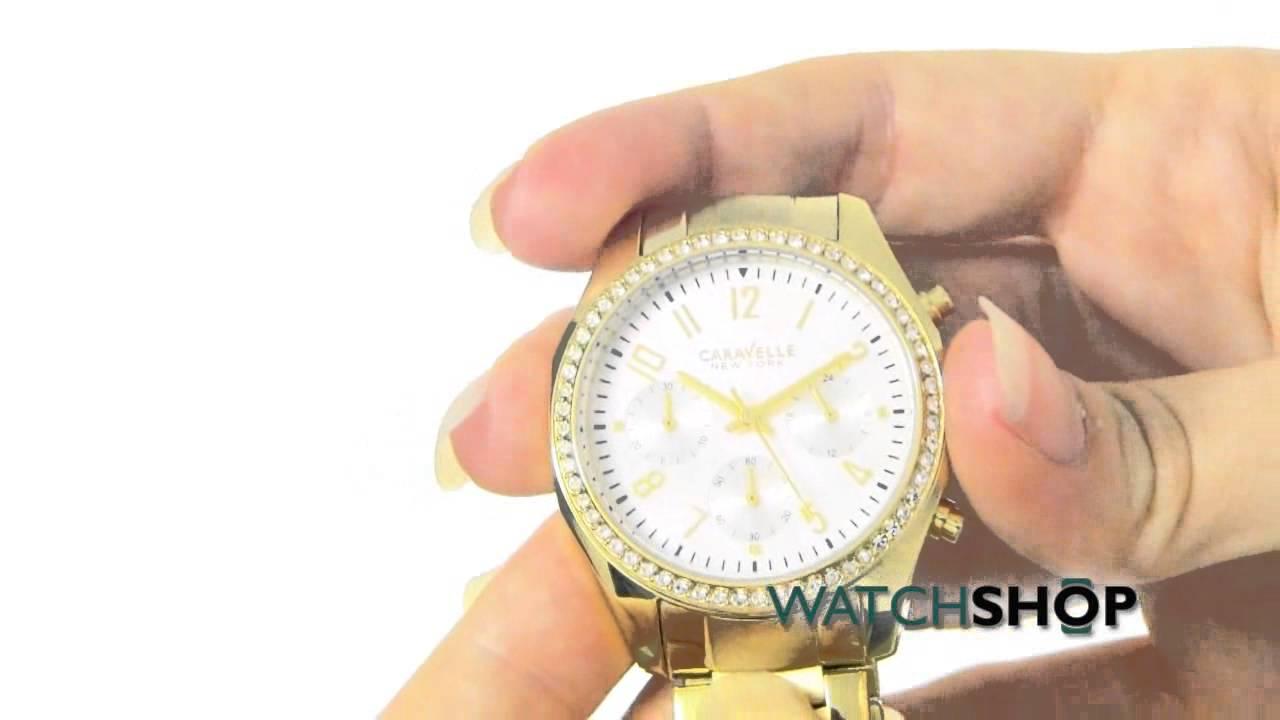 f91a08ec5 Caravelle New York Ladies' Melissa Chronograph Watch (44L114) - YouTube