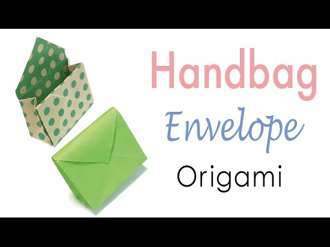 Origami Paper Handbag Shape Envelope 🎀 - Origami Kawaii〔#130〕