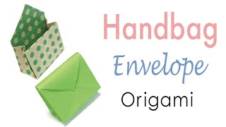 Origami Paper Handbag Shape Envelope