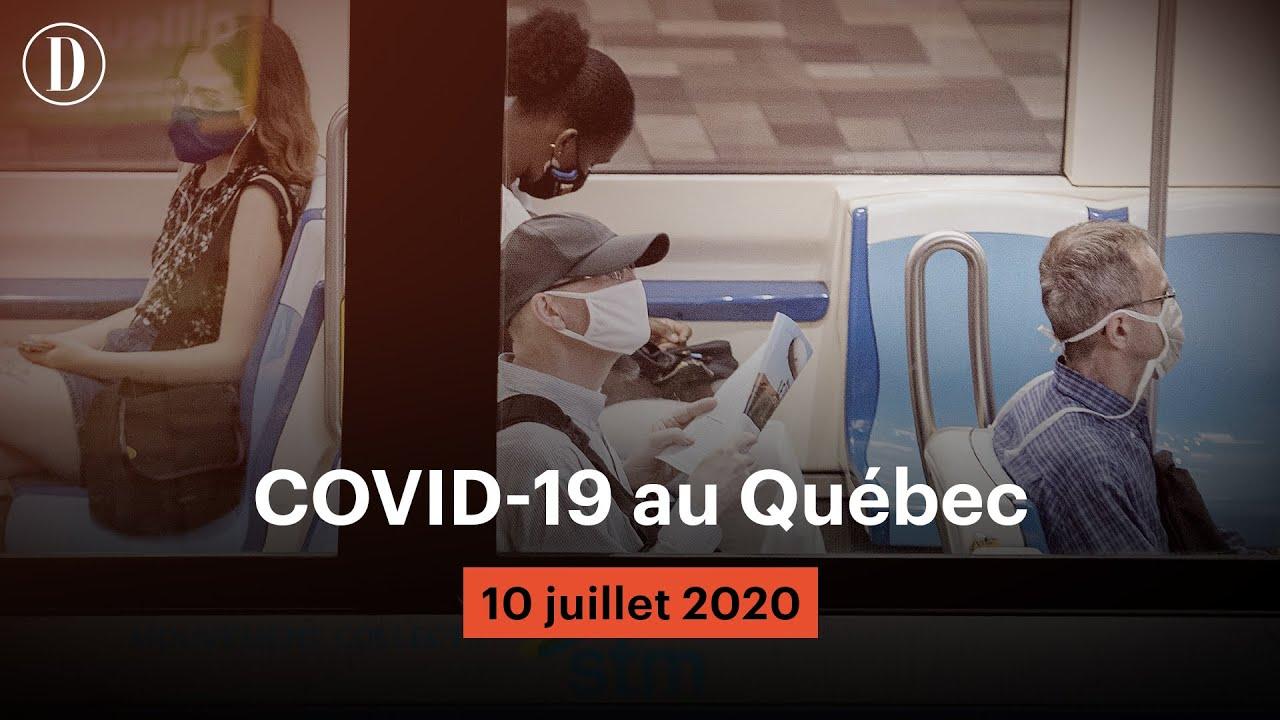 Le point sur la pandémie de COVID-19 au Québec | Vendredi 10 juillet