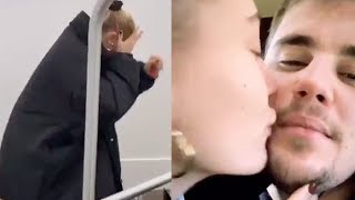 Justin Bieber Gets Hailey To Kiss Him After SCARING The Daylights Out Of Her During Prank!