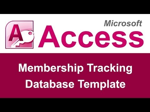 Microsoft Access Membership Tracking Database Template - YouTube