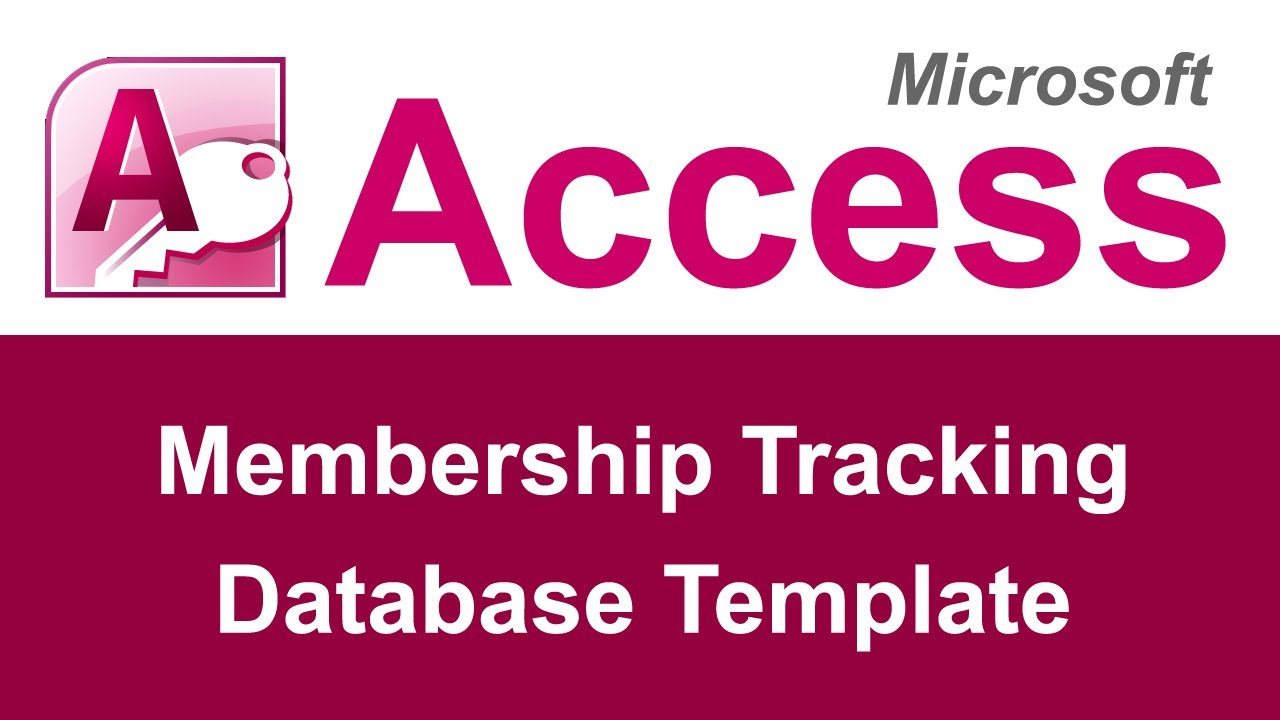 Microsoft Access Membership Tracking Database Template YouTube – Club Membership Template