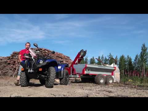 Firewood processor with Yamaha and ATV trailer