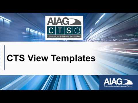 AIAG CTS Software - View Templates