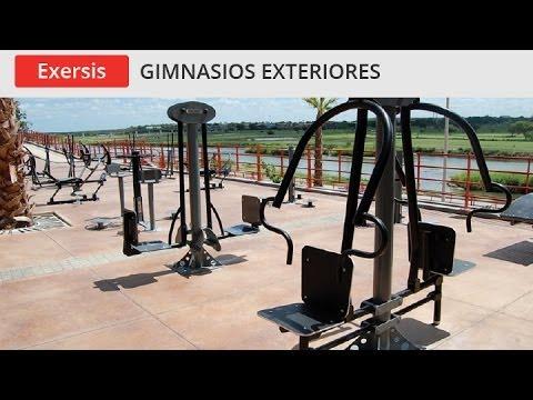 Gimnasios exteriores exersis inoplay youtube for Gimnasio 8 de octubre