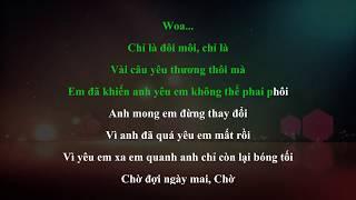 ♩♬♪ KARAOKE ♪♬♩   Đếm Ngày Xa Em ❋ OnlyC ft Lou Hoàng   Beat Chuẩn