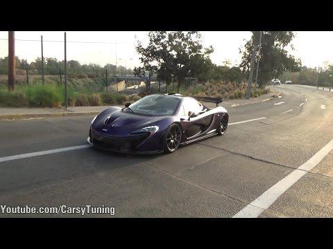 McLaren P1 Driving Race Mode in Santiago!