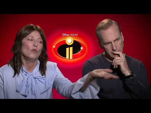 Bob Odenkirk and Catherine Keener  Making of: INCREDIBLES 2 2018