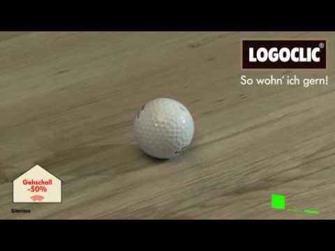 laminat im golfball test vergleich mit und ohne trittschalld mmung youtube. Black Bedroom Furniture Sets. Home Design Ideas