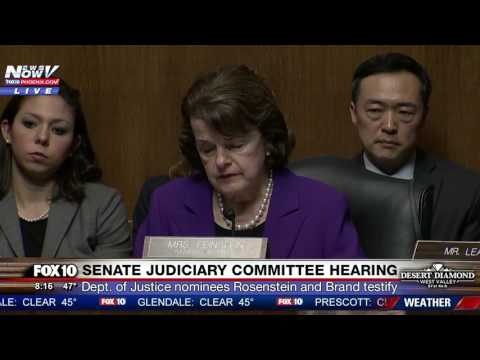 FNN: DOJ Nominees Rod Rosenstein and Rachel Brand Testify at Senate Judiciary Cmte. Hearing (PART 1)