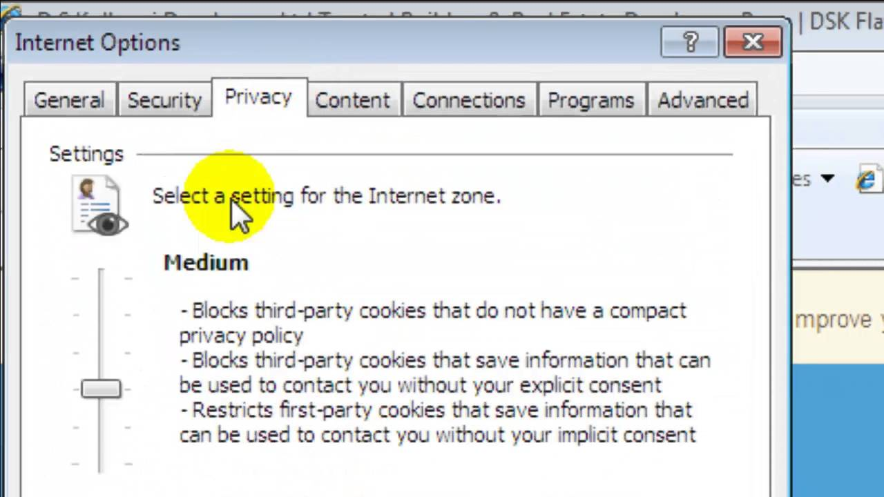 How To Turn On Cookies In Internet Explorer 8