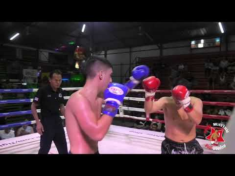 Arman Sinbimuaythai from England fights at Rawai Boxing Stadium, 18th February 2020