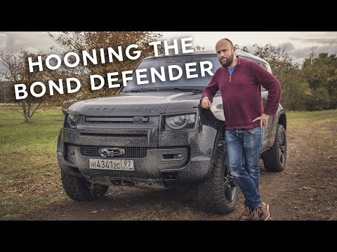 Driving the 400hp James Bond Land Rover Defender STUNT CAR