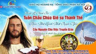 Trực Tiếp - Thánh Lễ Chính Tiệc Tuần Chầu Chúa Giêsu Thánh Thể Tại Giáo Họ Hoàng Hạ - TGP Hà Nội