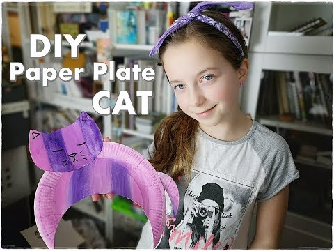 🐈🐱 DIY Paper CAT Super Easy Paper Plate Kids Craft ❀ Emily's Small World ❀