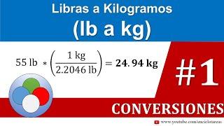 Libras a Kilogramos (lb a kg)