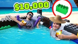 WE MADE A HOT TUB OUT OF BLOCKS! (1000 Blocks = $10,000)