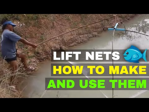 FISH LIFT NETS - HOW TO MAKE & USE A FISH LIFT NET