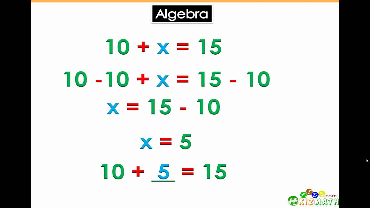 algebra basics for 5th 6th grade math learners