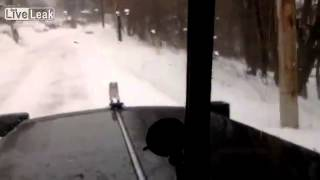 Lowell, Massachusetts - Snowplow Driver Buries Cars With Snow