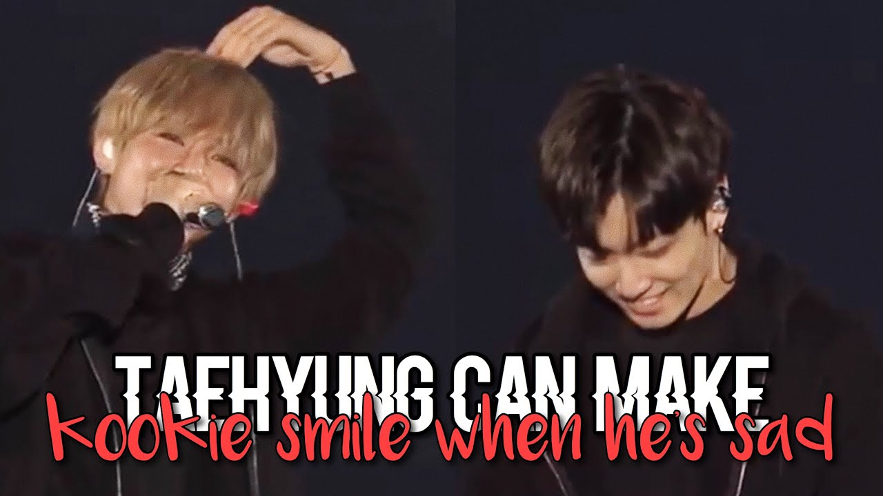 Taehyung can make Jungkook smile when he's sad (taekook/vkook analysis)