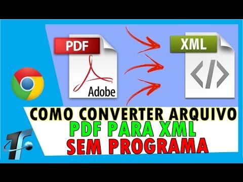 Como Converter Arquivo PDF para XML - Sem Programa - Canal TF