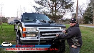 auxbeam 32 inch 180 watt philips led light bar review