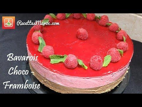 recette-gâteau-d'entremets-bavarois-choco---framboise