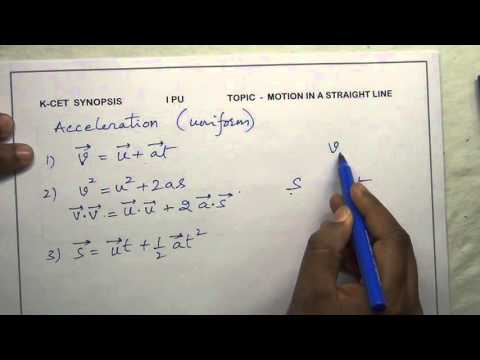 Physics synopsis -  01.  motion in a straight line