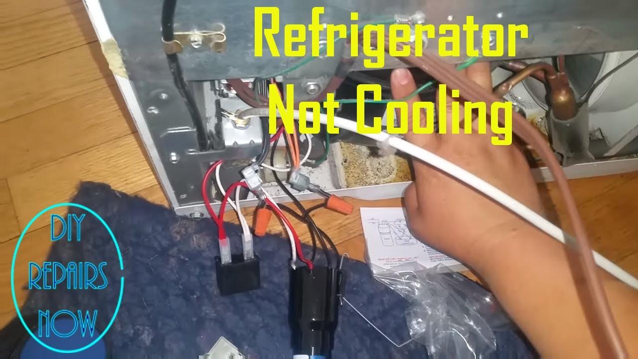 Refrigerator Not Cooling - Refrigerator Compressor Relay - GE GBSC0HCXARWW  - Compressor Not Working