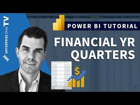 How To Create Custom Financial Year Quarters - Power BI