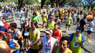 Atletas llegando en Maraton 42K Buenos Aires 15 Octubre 2017