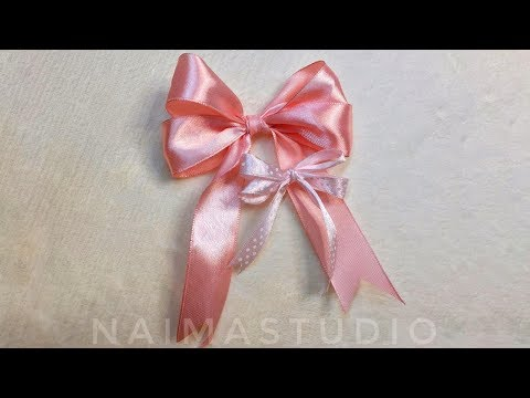 How to Tie the Perfect Bow   Make Simple Easy Bow   DIY Ribbon Hair Bow   Bow