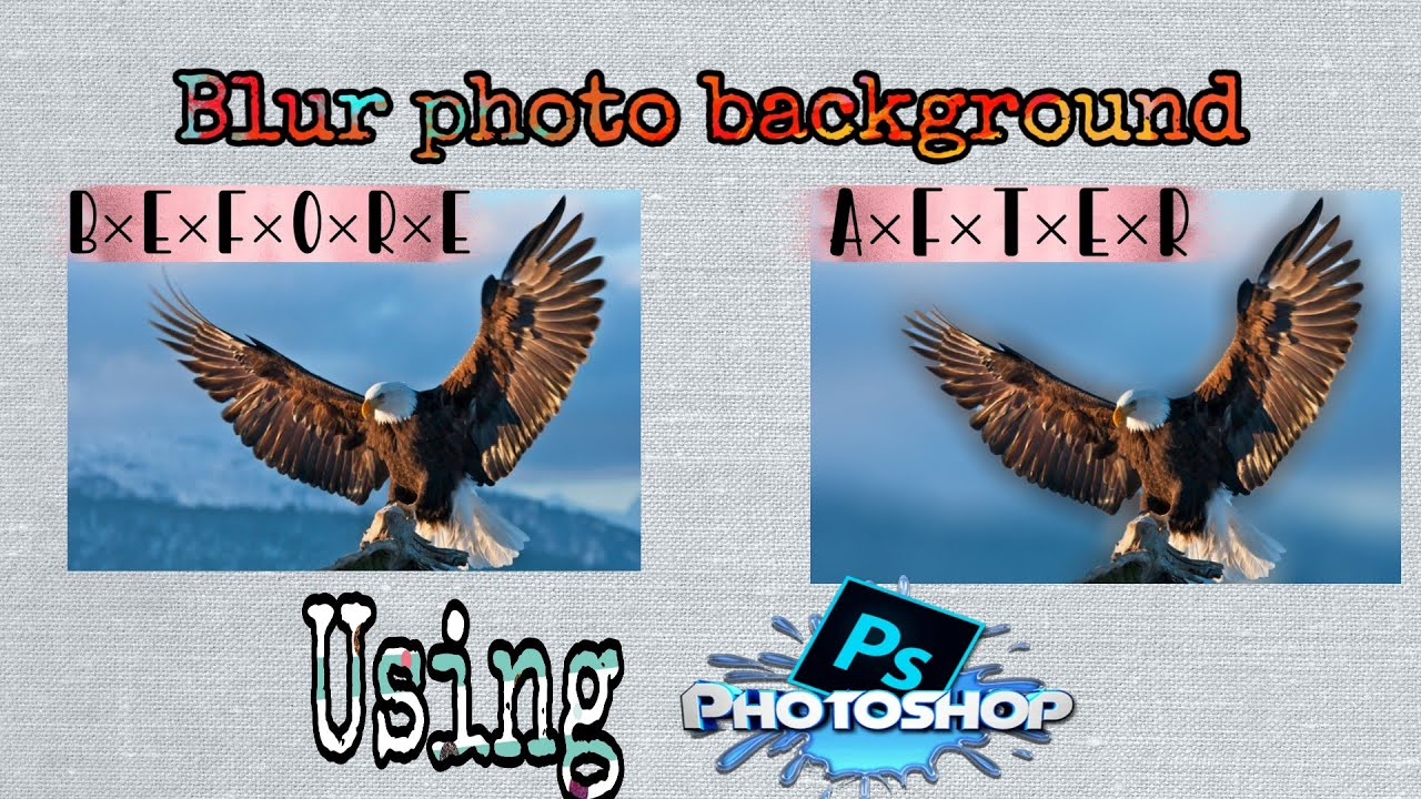 How to blur background in Photoshop   Easy walkthroughout ...
