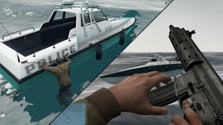 GTA 5 Next-Gen - Hijacking a Police Boat!