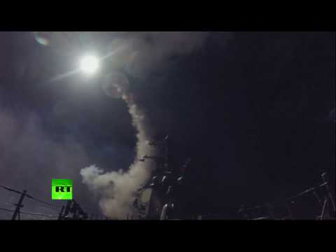 RAW: US fires Tomahawk missiles at Syrian military base from USS Ross and USS Porter ships