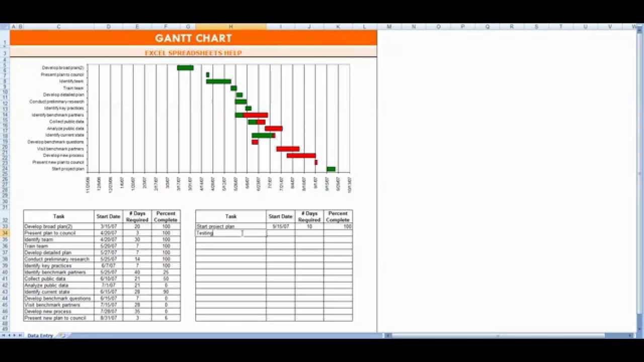 gantt chart excel free