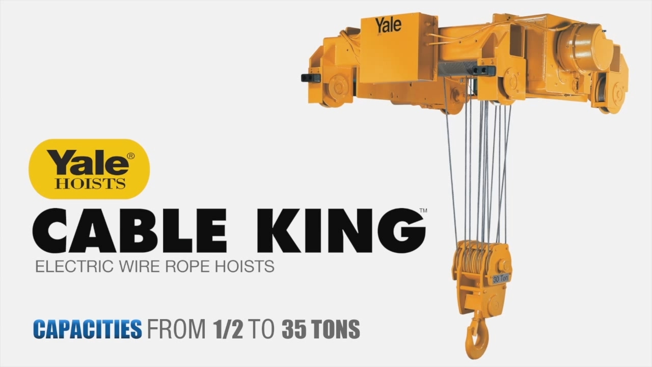 Yale Cable King Wire Rope Hoist - YouTube