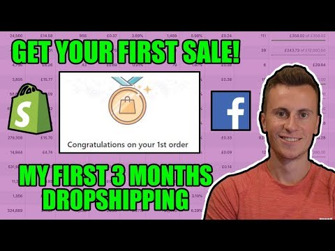 My First Ever Sale and How To Get Yours! Shopify Dropshipping 2019 thumbnail