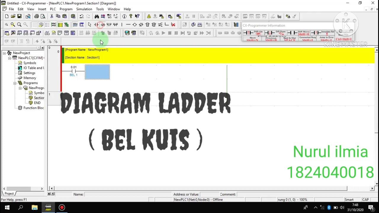 Diagram Ladder Bel Kuis Youtube