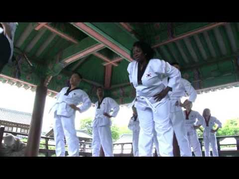 Taekwondo in Namsangol Hanok Village