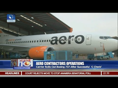 Aero Contractors Rolls Out Boeing 737 After Successful 'C Check'