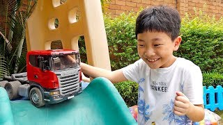 Car Game Play with Truck Car Toys Assembly Super Bike